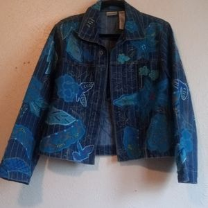 CHICO'S Jeans Jacket
